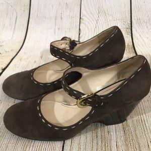 Franco Sarto Mary Jane Round Toe Wedge Heels